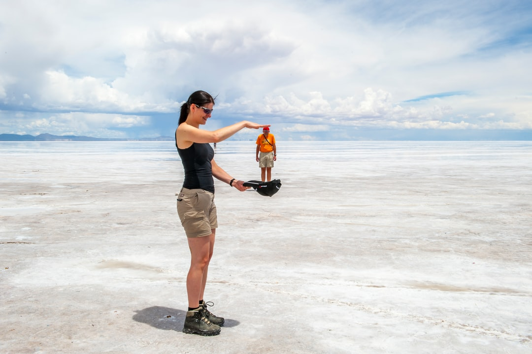Perspective Photo Games in the Uyuni Salt Desert, Bolivia