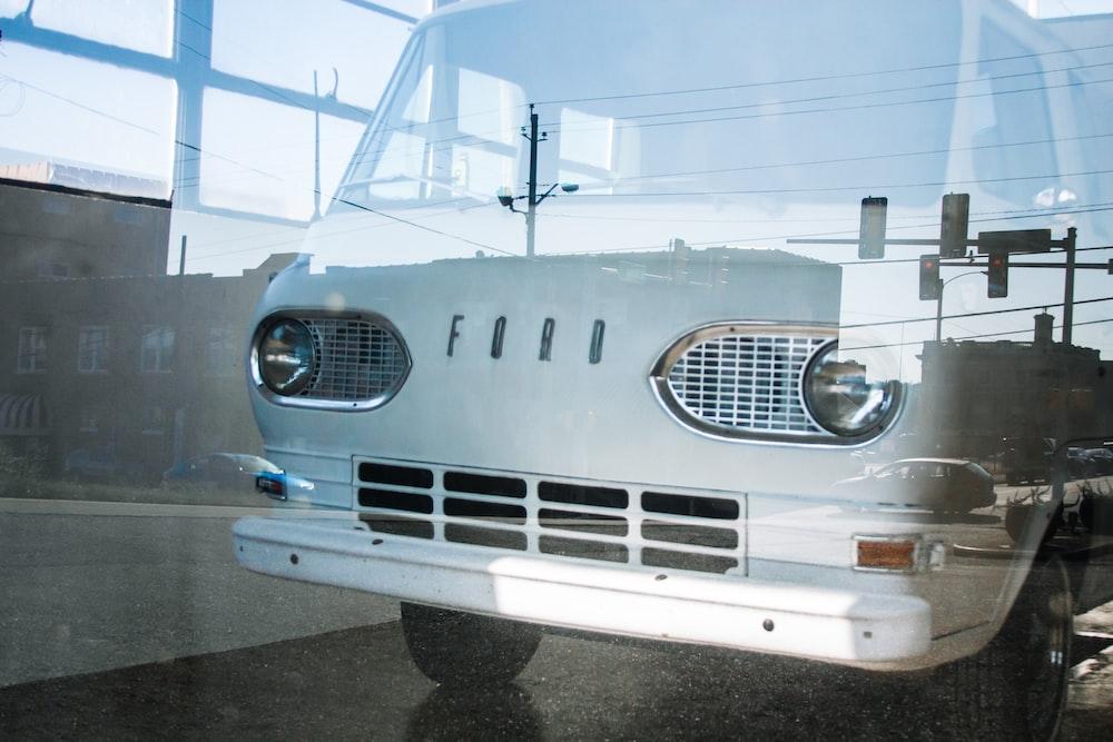 photo of white Ford van