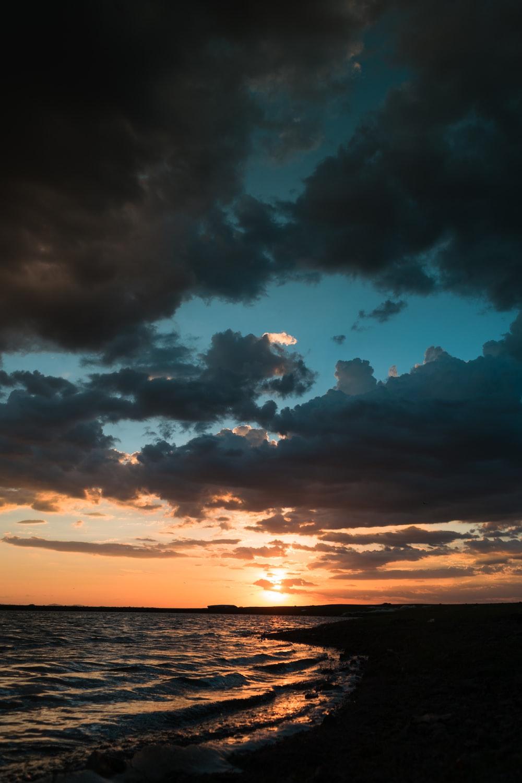 golden hour in beach