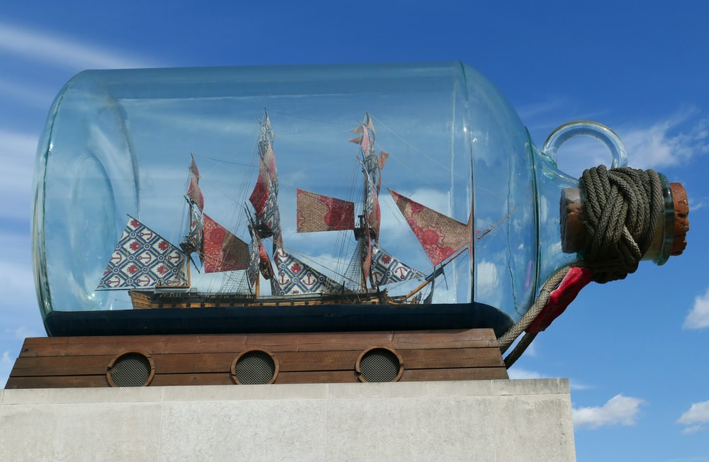 boat in bottle decor