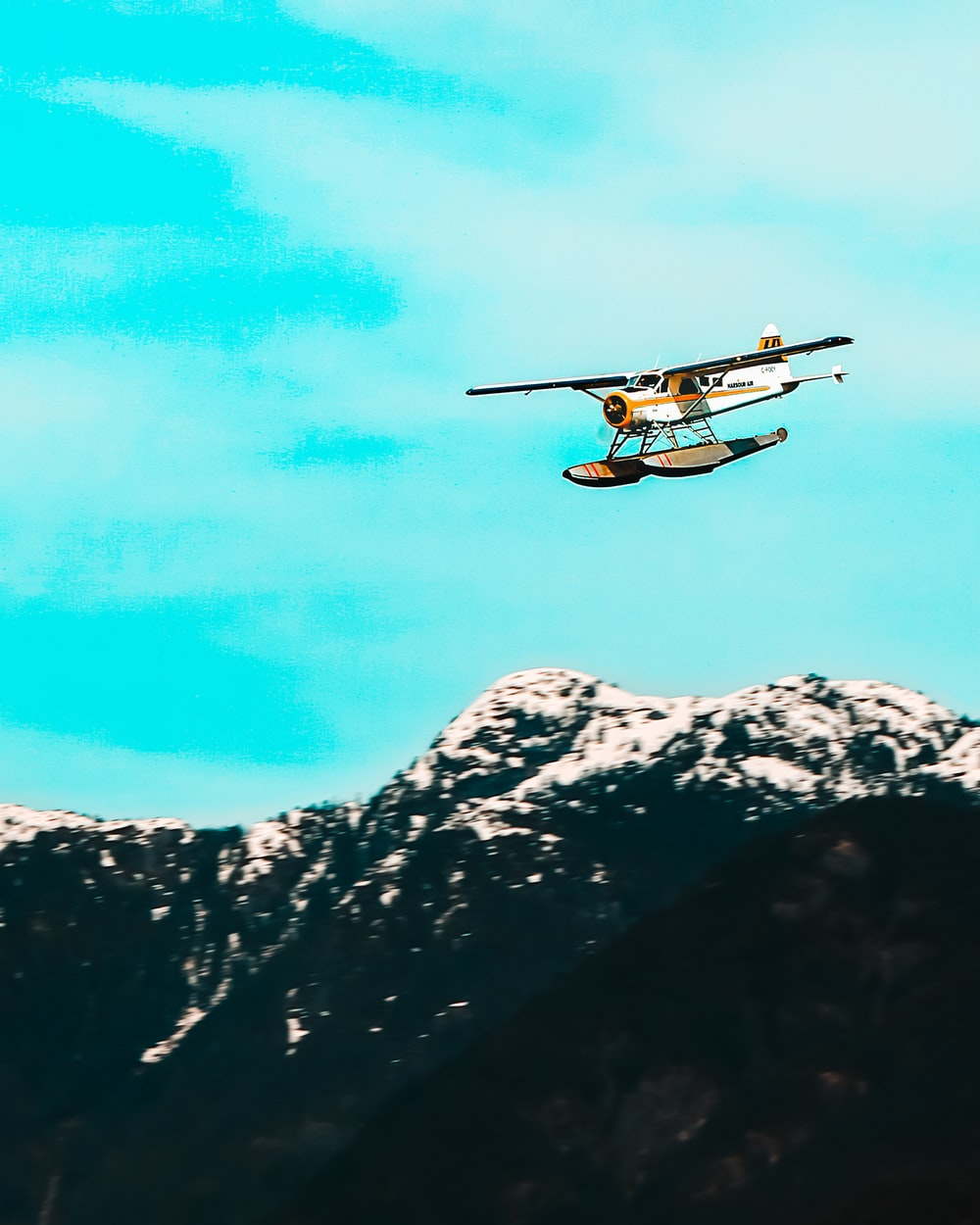 biplane on air at daytime
