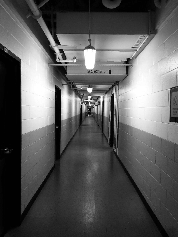 Corridor in black and white