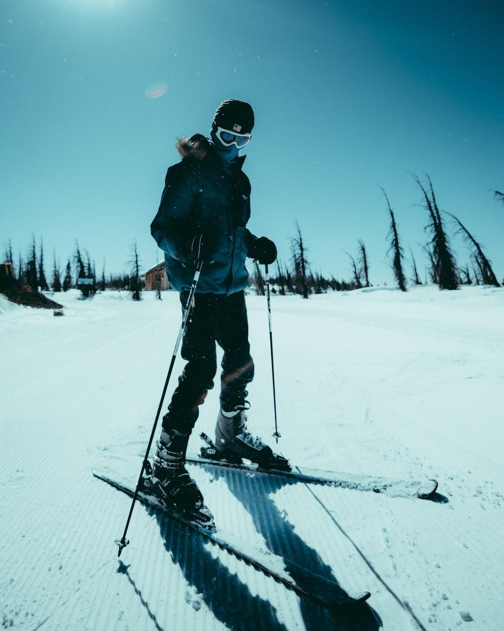 man in ski suit