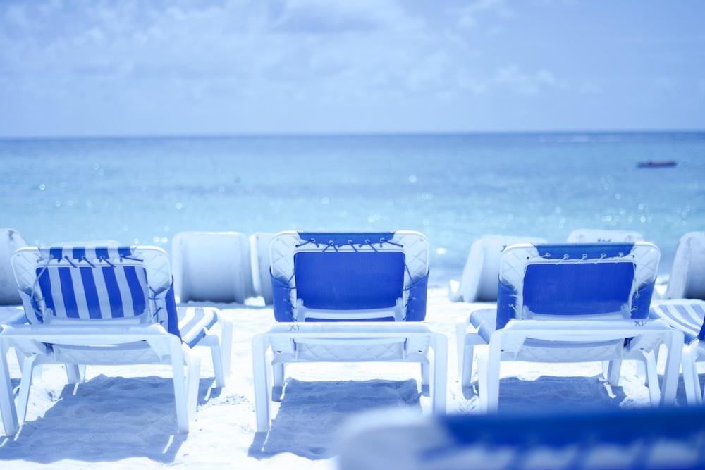 three white chairs