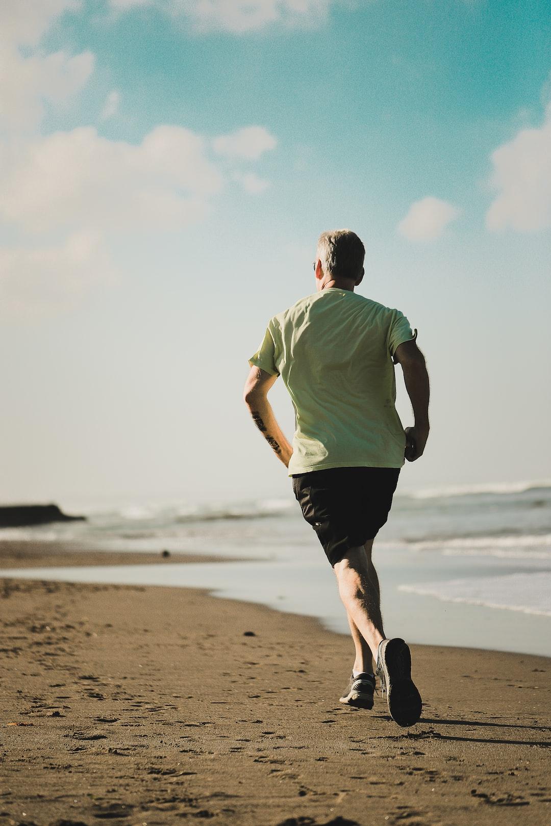 Beach morning running health Bali