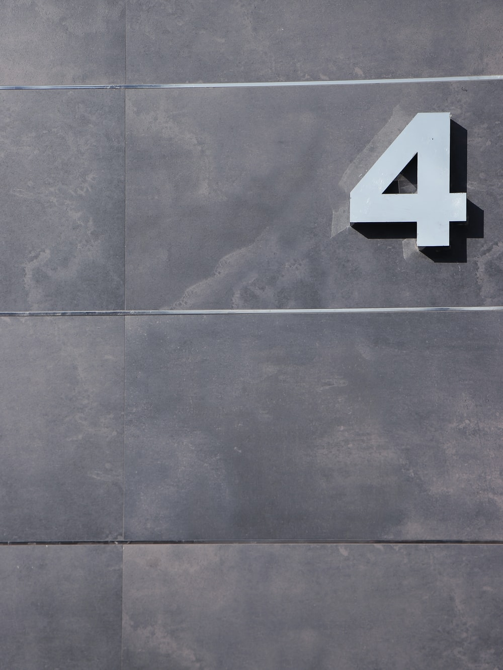 number cutout wall decor