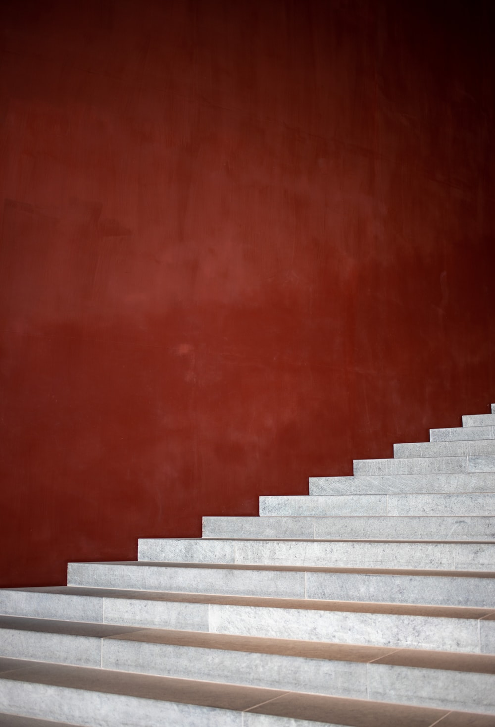 gray concrete stairway