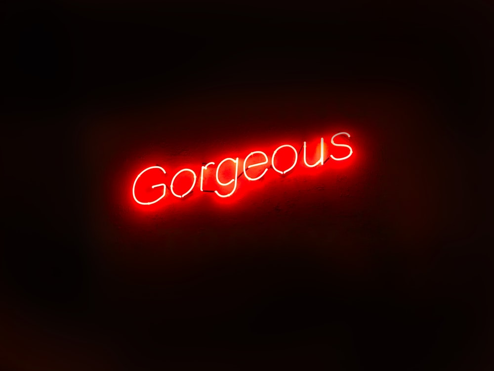 gorgeous neon light signage
