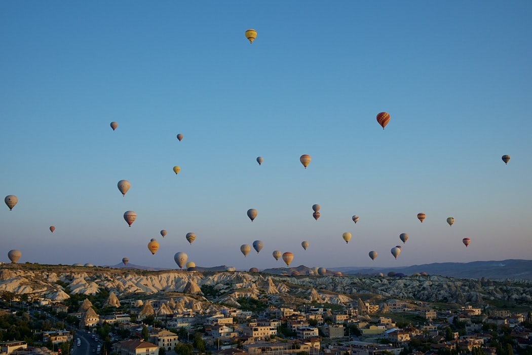 Take me higher than these hot air balloons in Turkey can go! Source: Unsplash