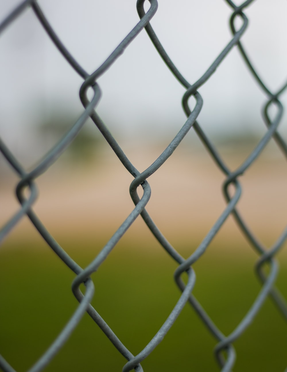 shallow focus photography of cyclone fence