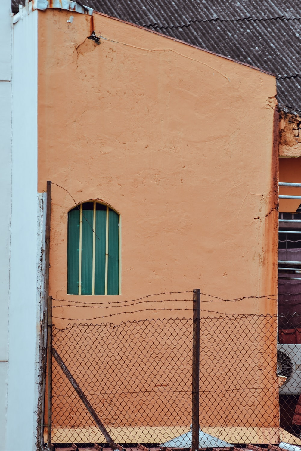 brown painted wall