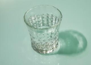 clear cut-glass cup