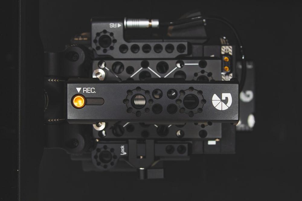 black camera illustration