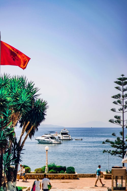 Gjipe Beach view in Albania