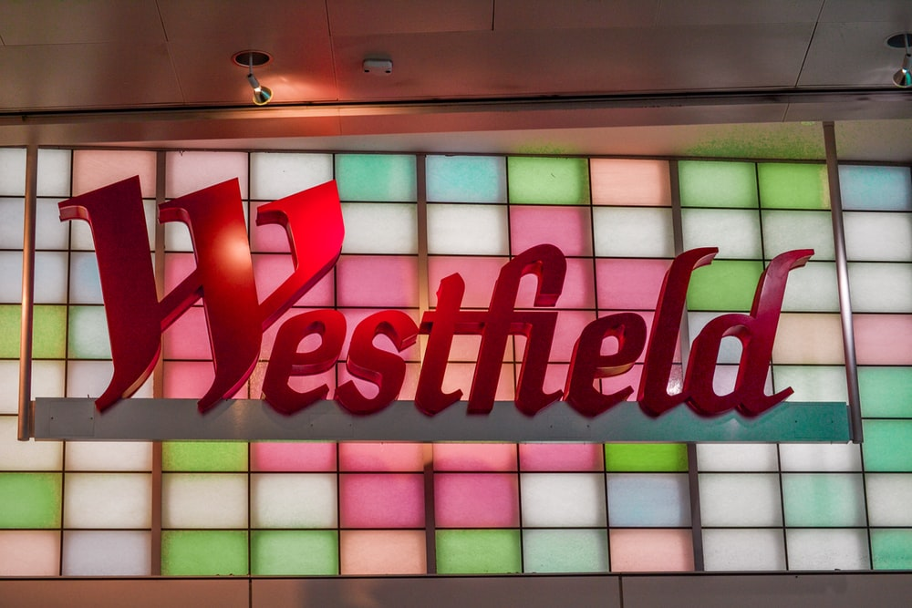 red Westfield LED sign