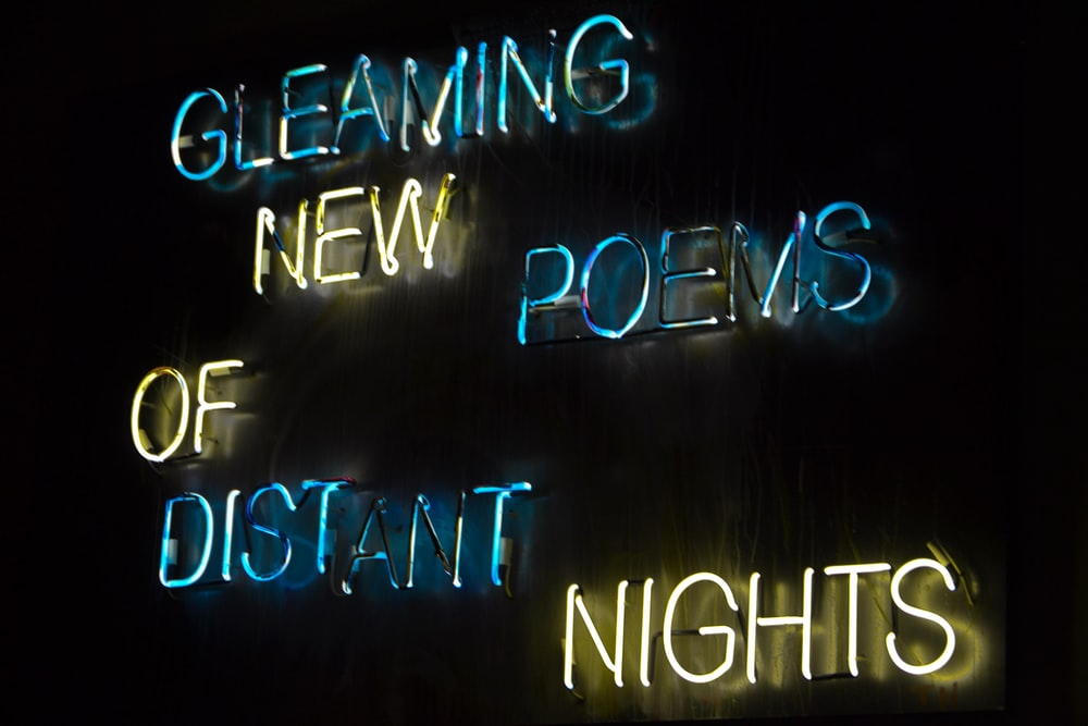 Cleaming New Poems of Distant Nights LED signage