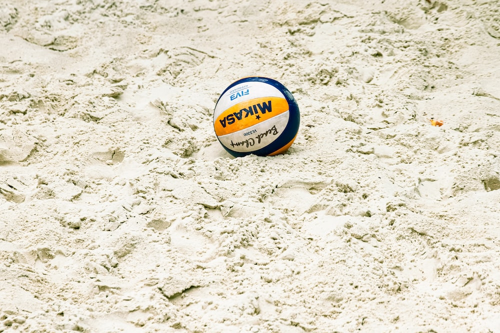 close-up of volleyball