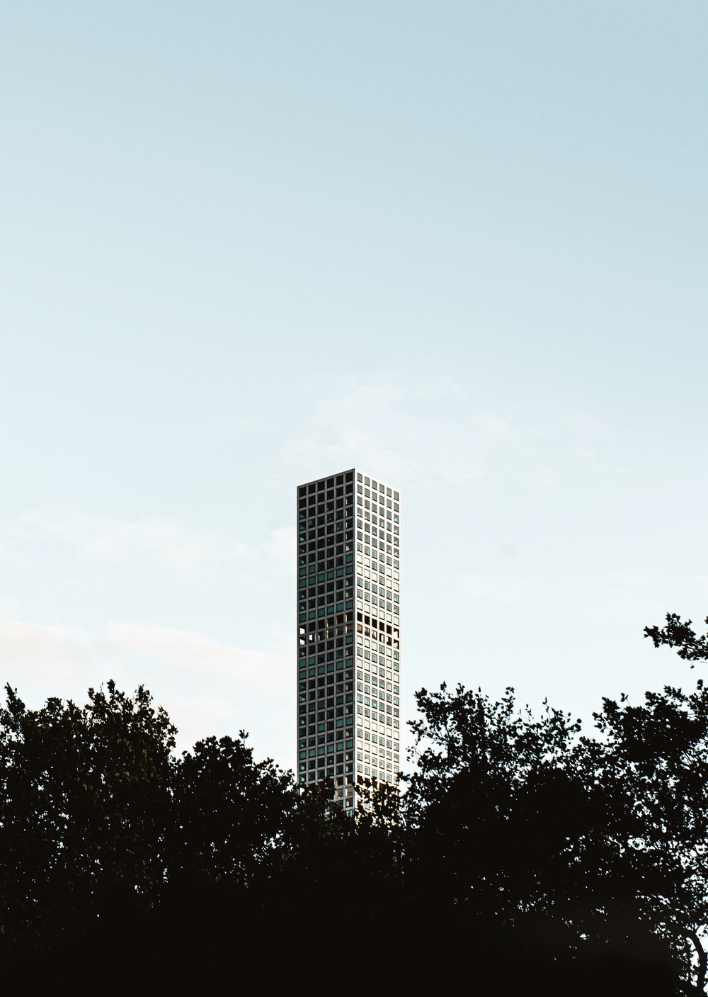 gray building under blue sky