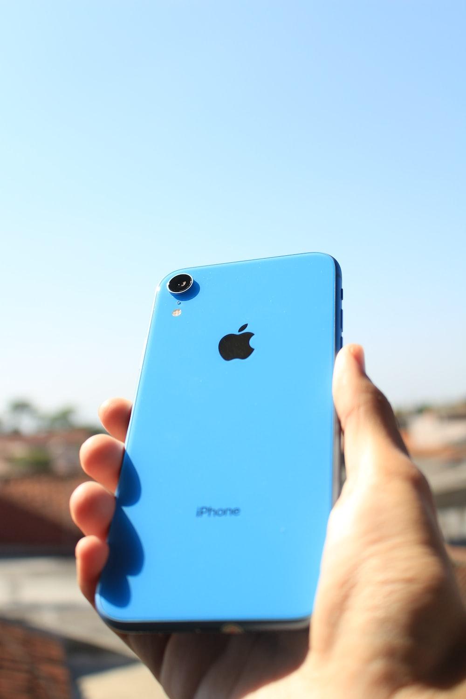 blue iPhone XS