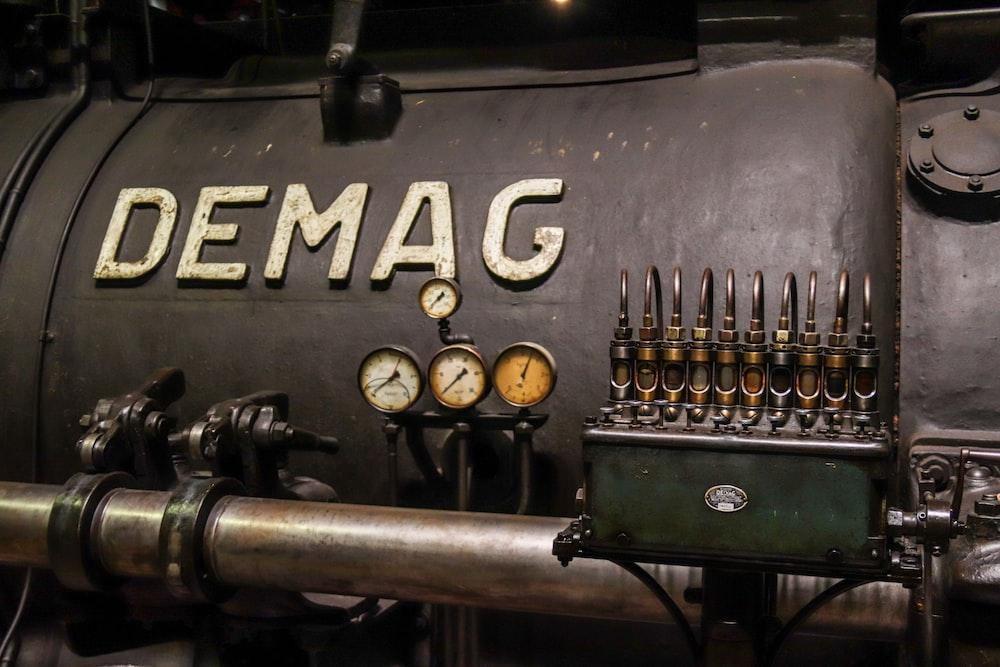black Demag electronic machine