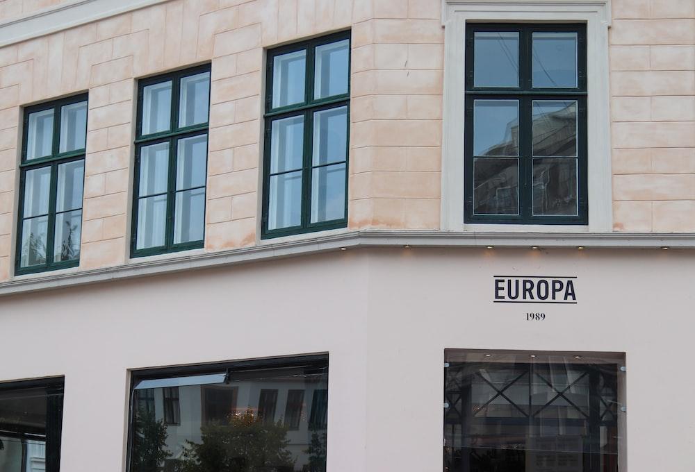white Europa concrete building