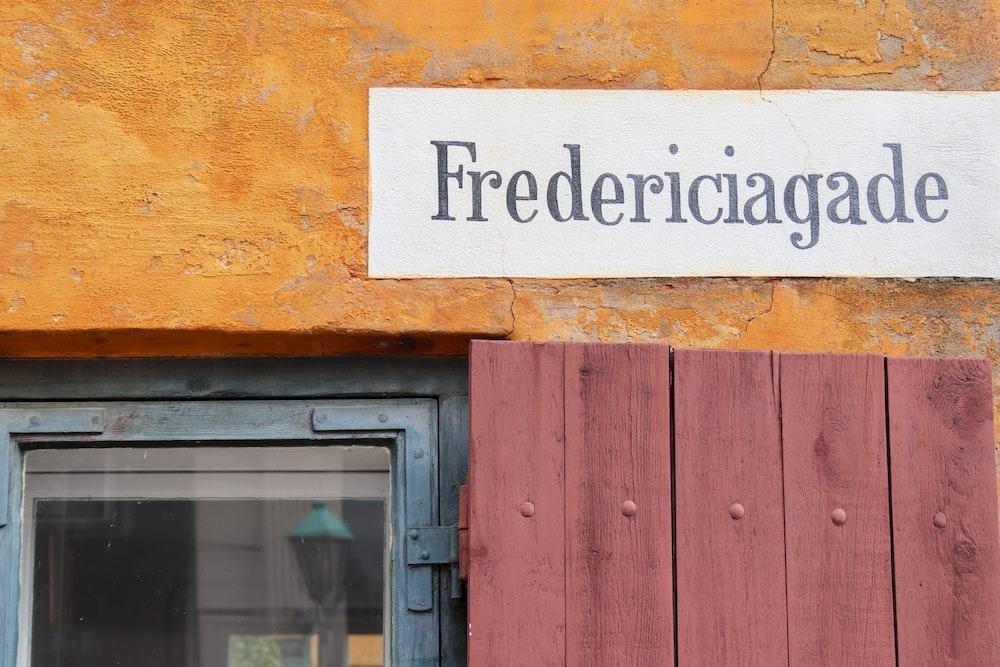Fredericiagade shop front