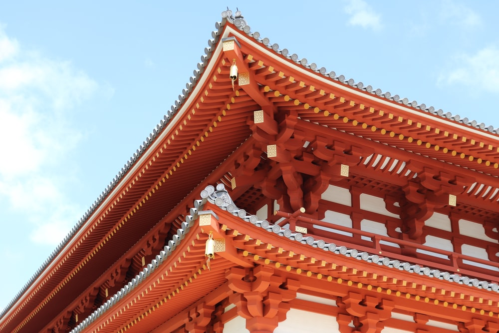 brown and orange temple