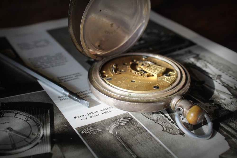 opened pocket watch