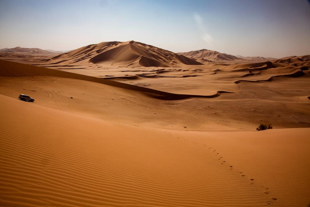 Endless sand dunes in Rub al-Khali, Dhofar region in Oman.
