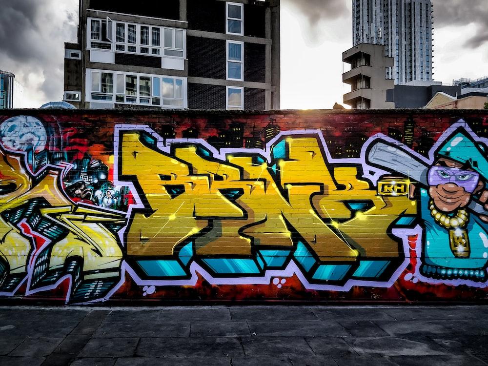 graffiti painted wall