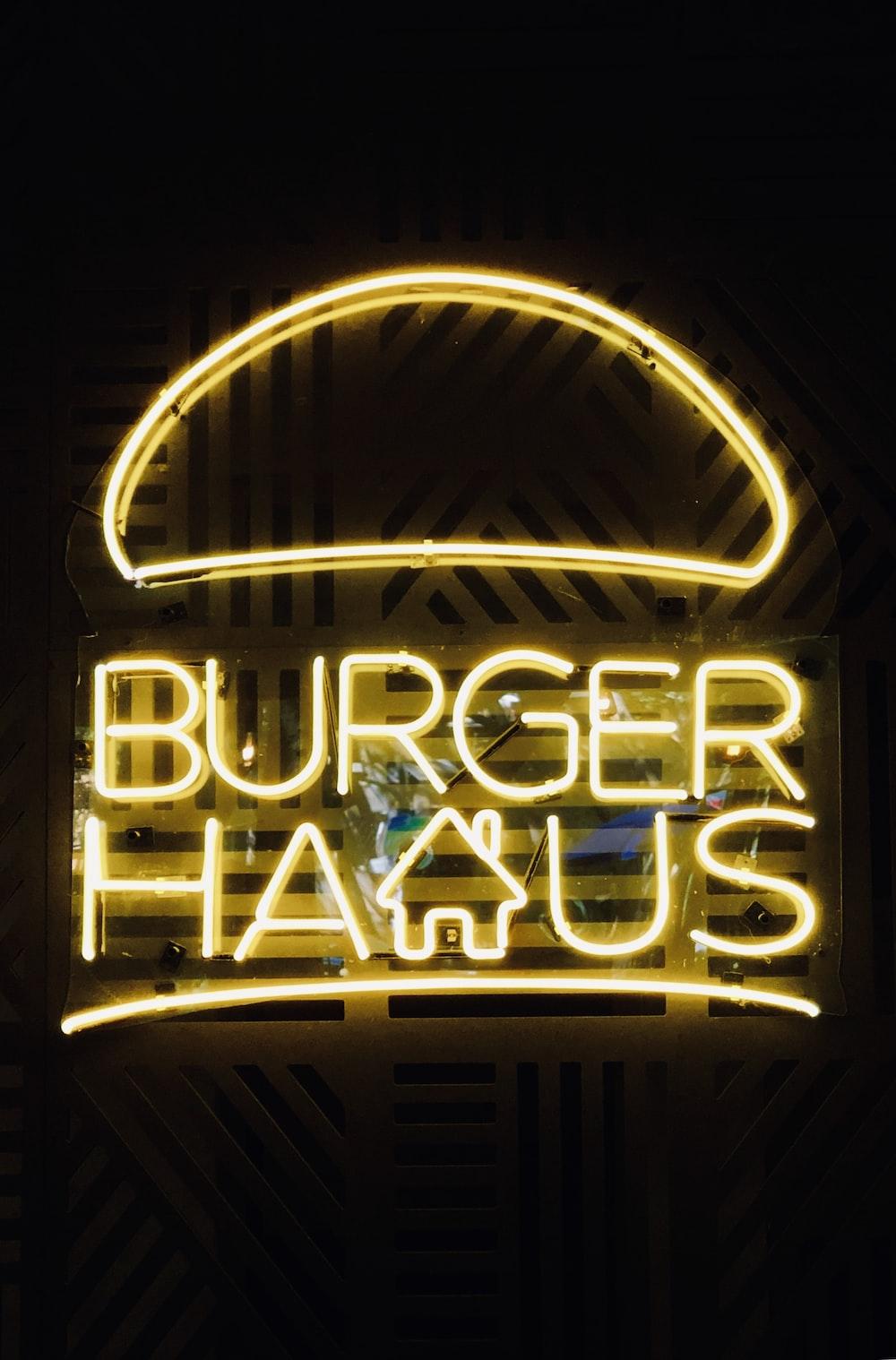Burger haus signage