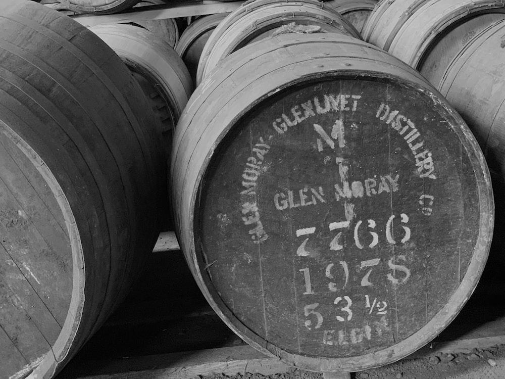 wooden barrel lot
