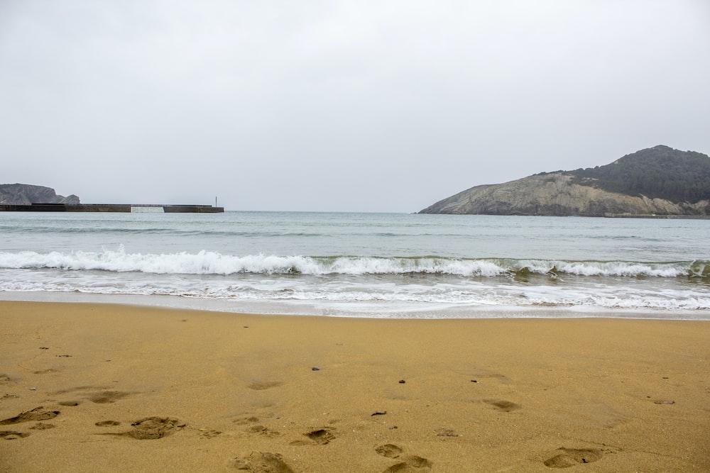 sea waves on shore