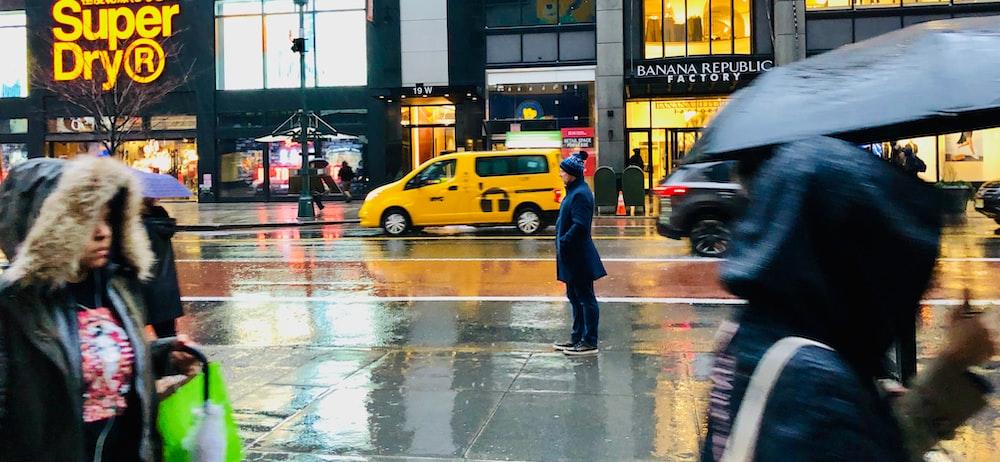 people walking on street screenshot