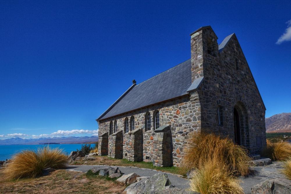 stone building in coastal area