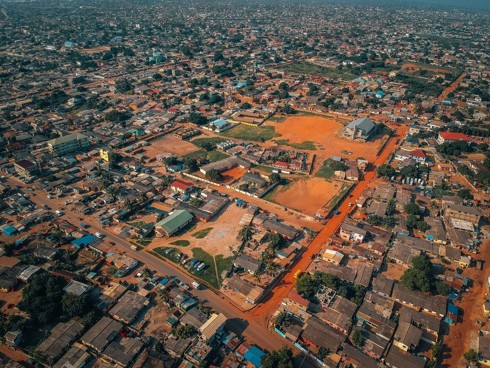 aerial-photography of city
