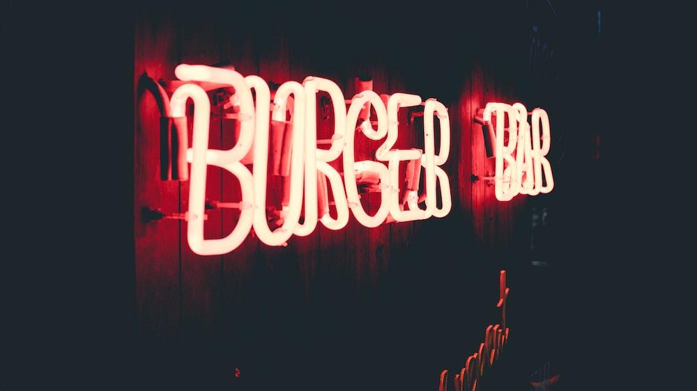 Burger Bar signage