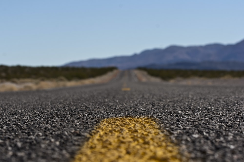 selective focus photo of road
