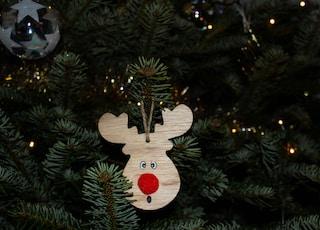 christmas tree, reindeer