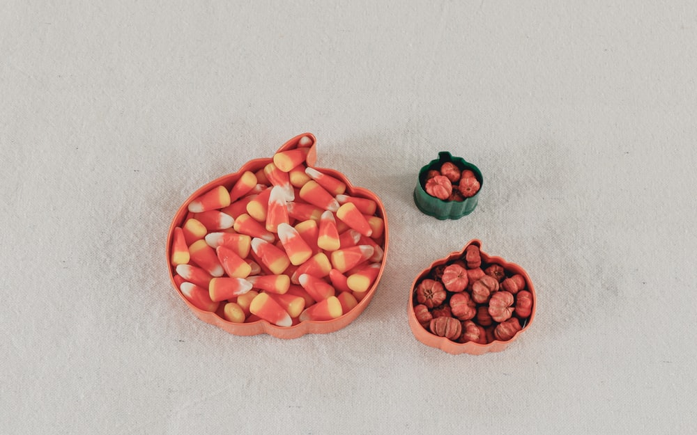 bowl of candy corns