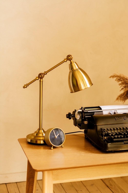 gold desk lamp