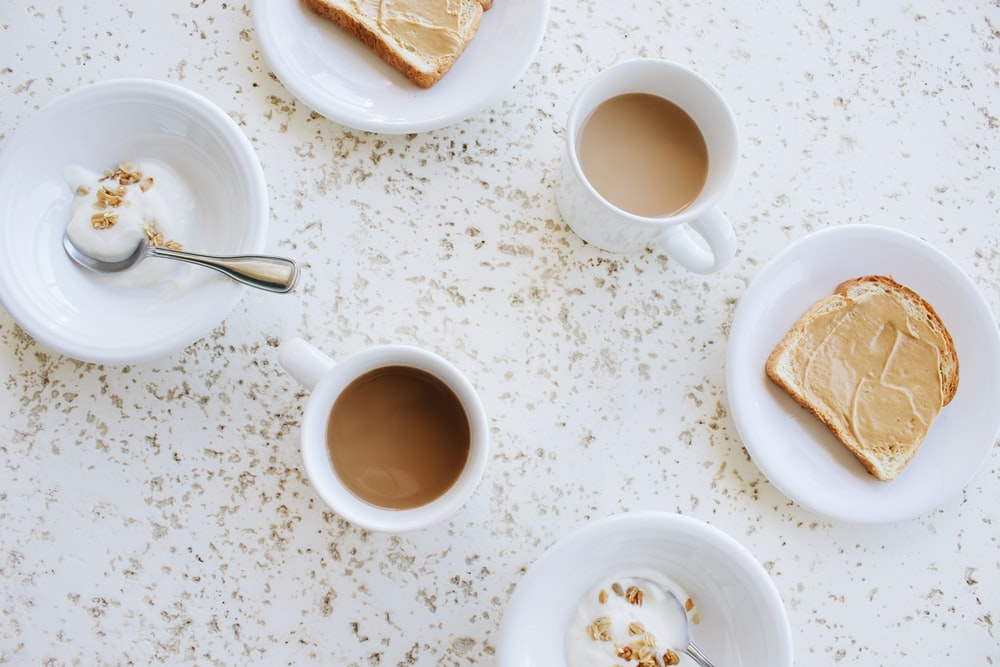 bread with coffee