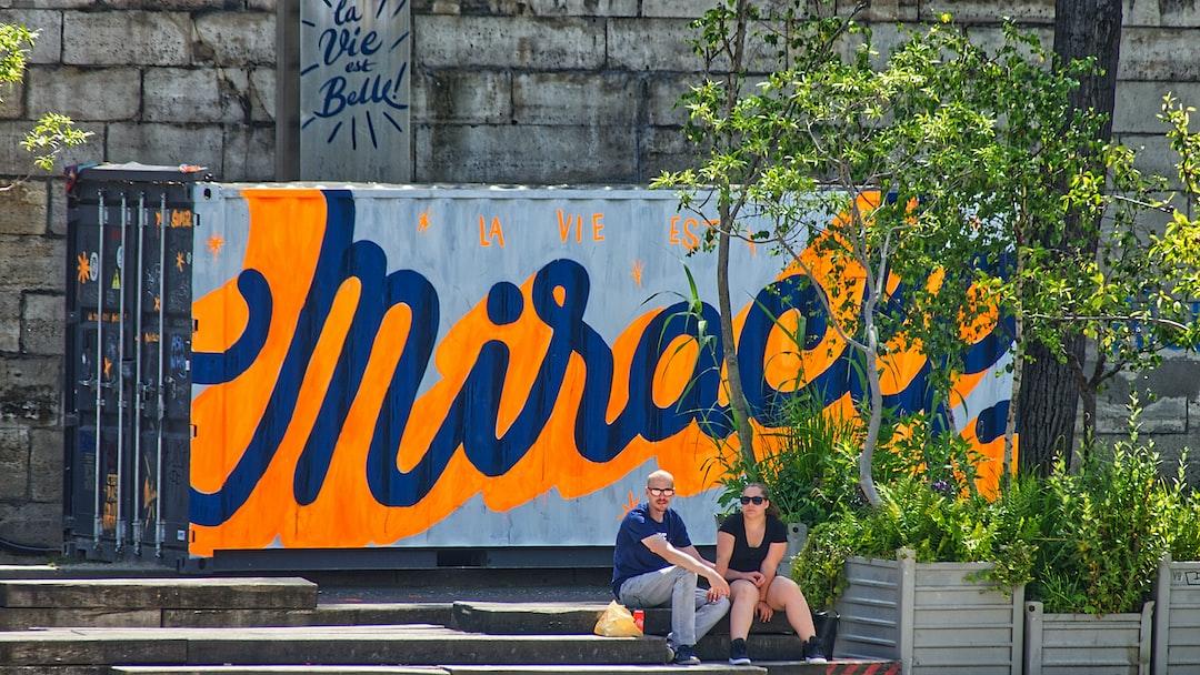 Street Art des Frères Toqués sur un container déposé sur les quais de Seine rive gauche.