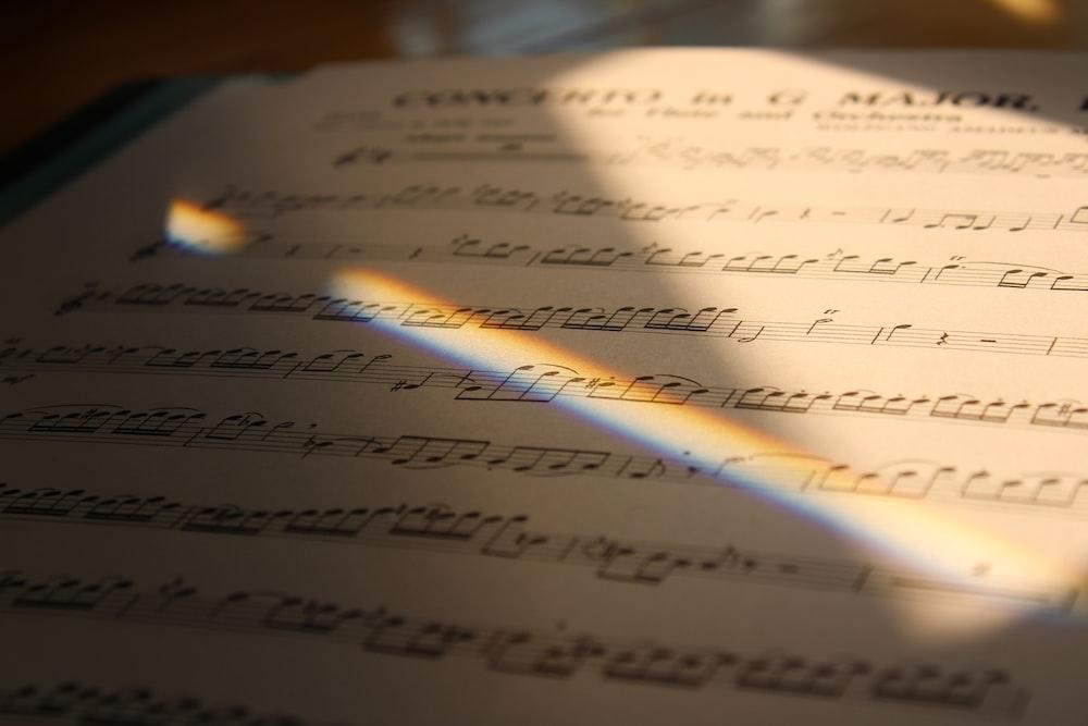 white music sheet