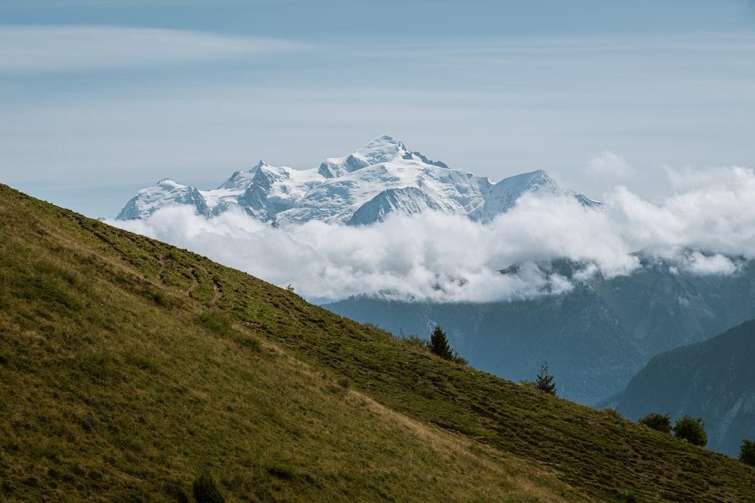Mont Blanc vu depuis le Môle / fin été 2019 Boris Dunand | Fujifilmm XT2 - Fujinon 18-135mm