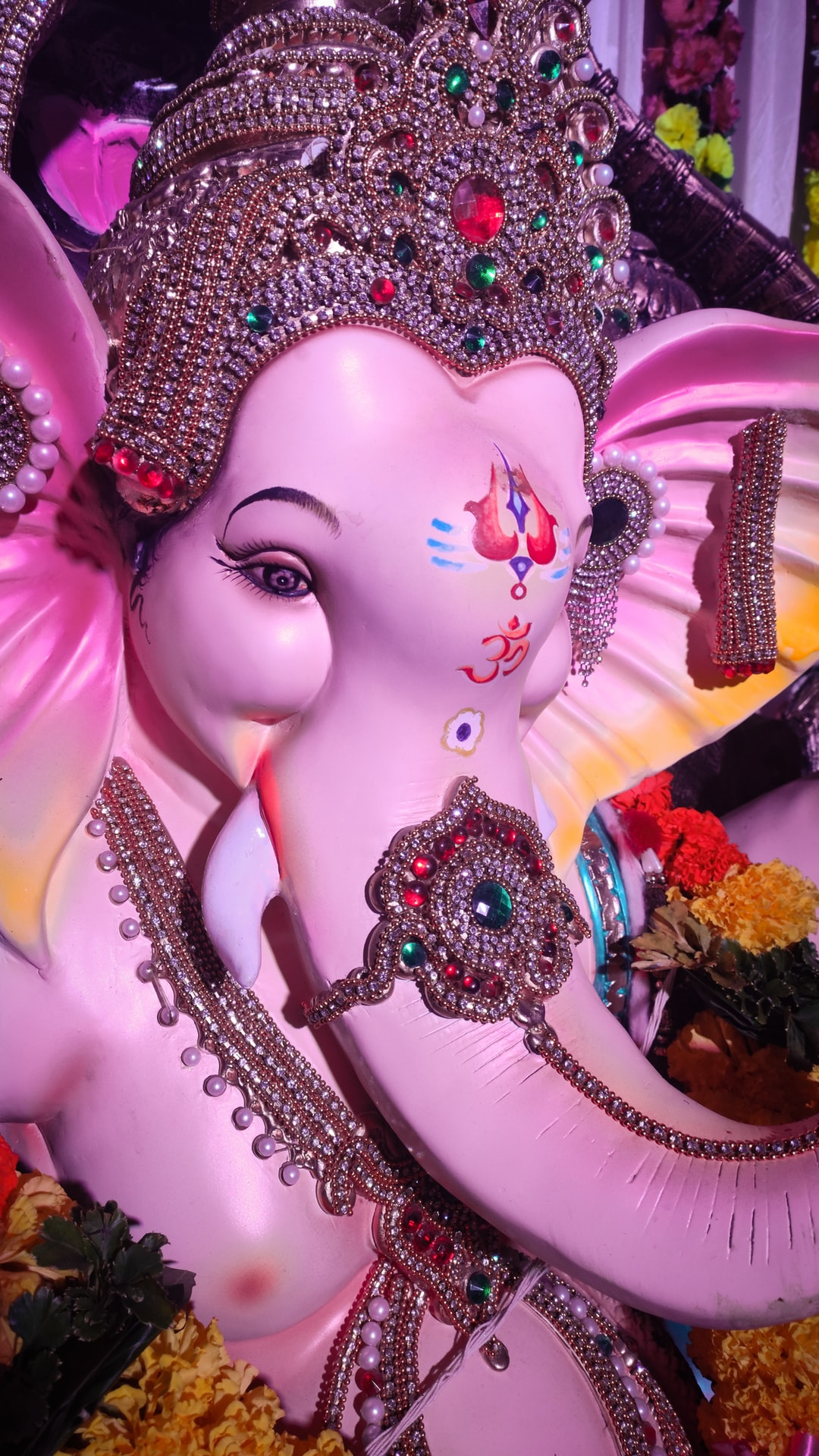 Ganpati celebration in India .Ganesh Chaturthi