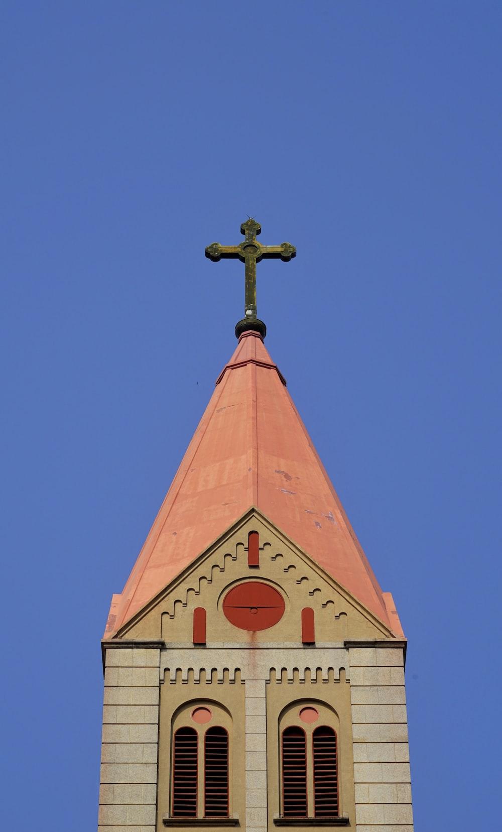low angle photo of chapel