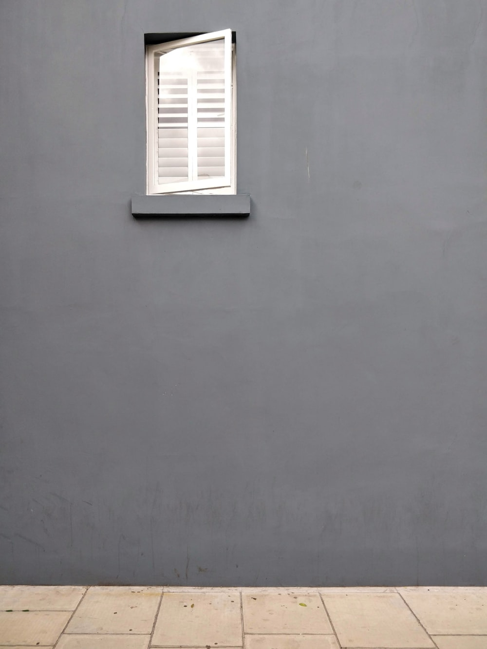 black painted wall