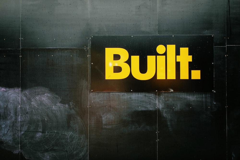 yellow built text illustration