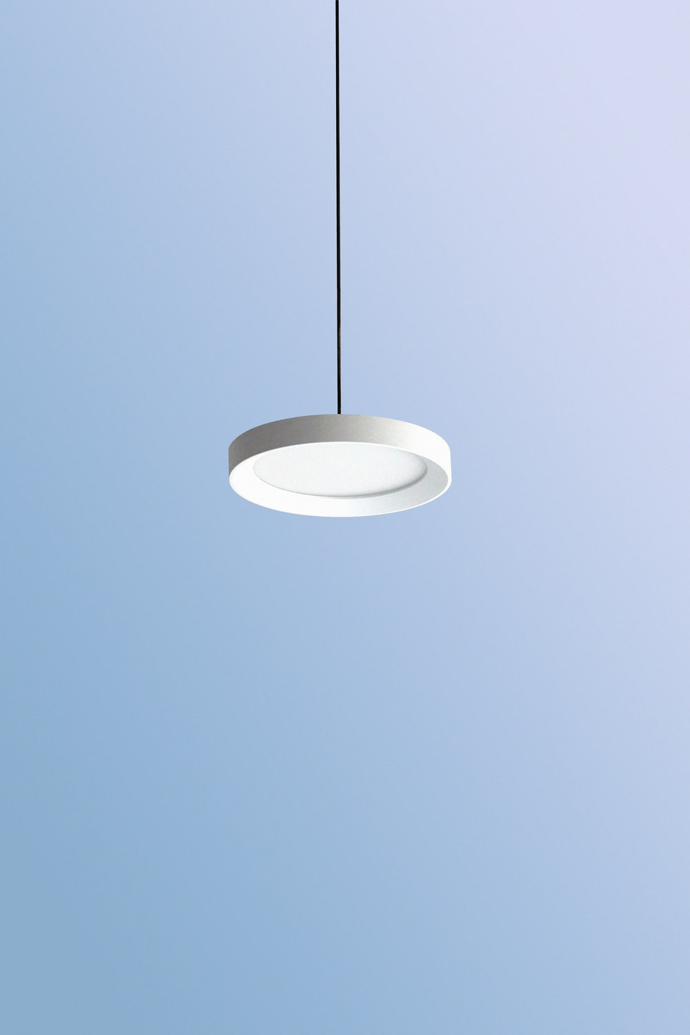round white and gold pendant lamp